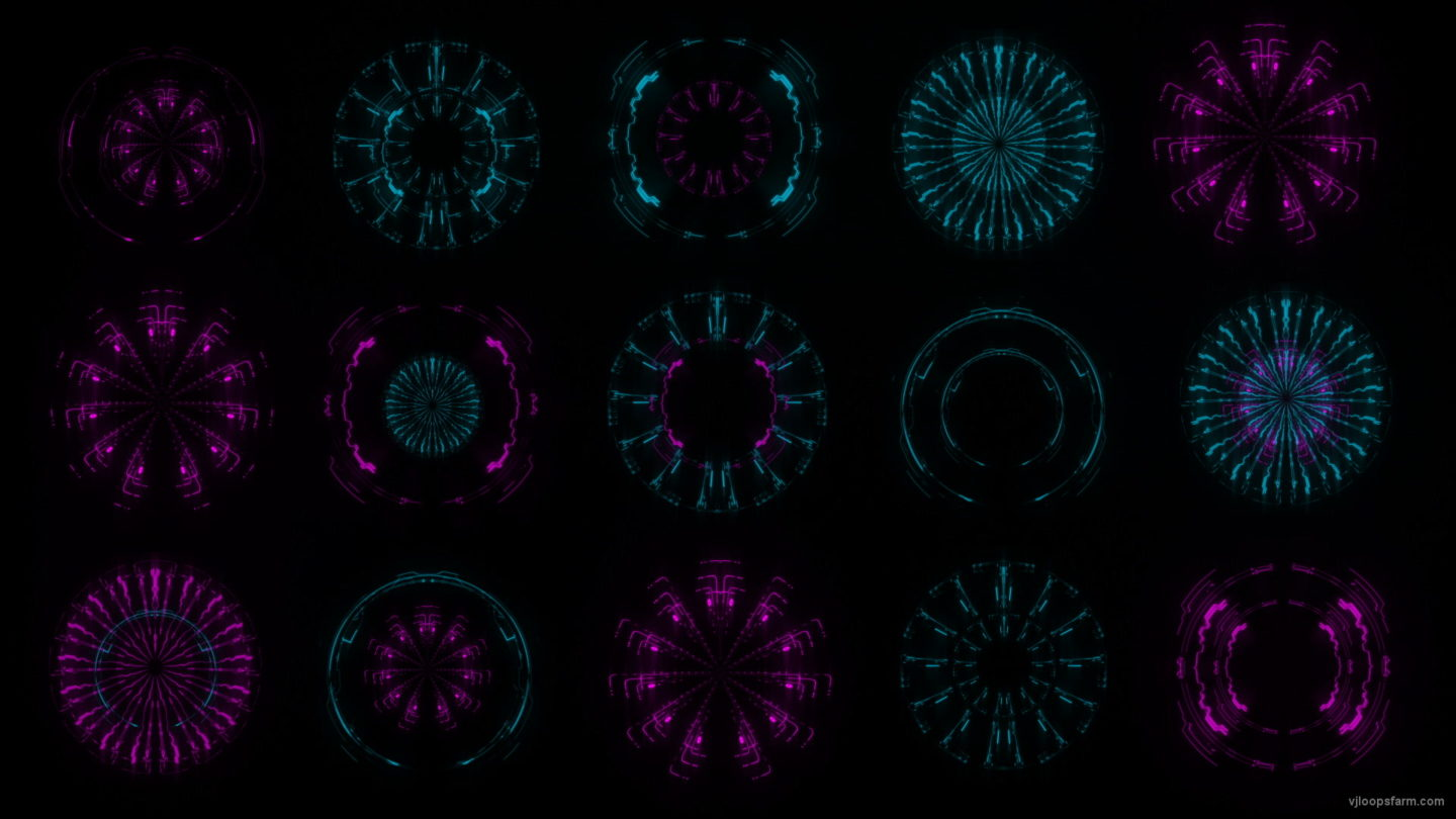 vj video background Pin-Blue-Circle-Ring-Pattern-Gate-AI-VIdeo-Art-VJ-Loop_003