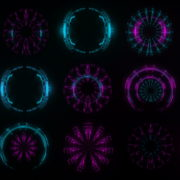 Pin-Blue-Circle-Ring-Pattern-Gate-AI-VIdeo-Art-VJ-Loop_007 VJ Loops Farm
