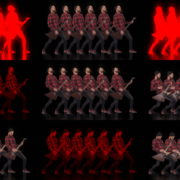 Rock-Band-Man-Guitartist-Video-Art-VJ-Loop VJ Loops Farm
