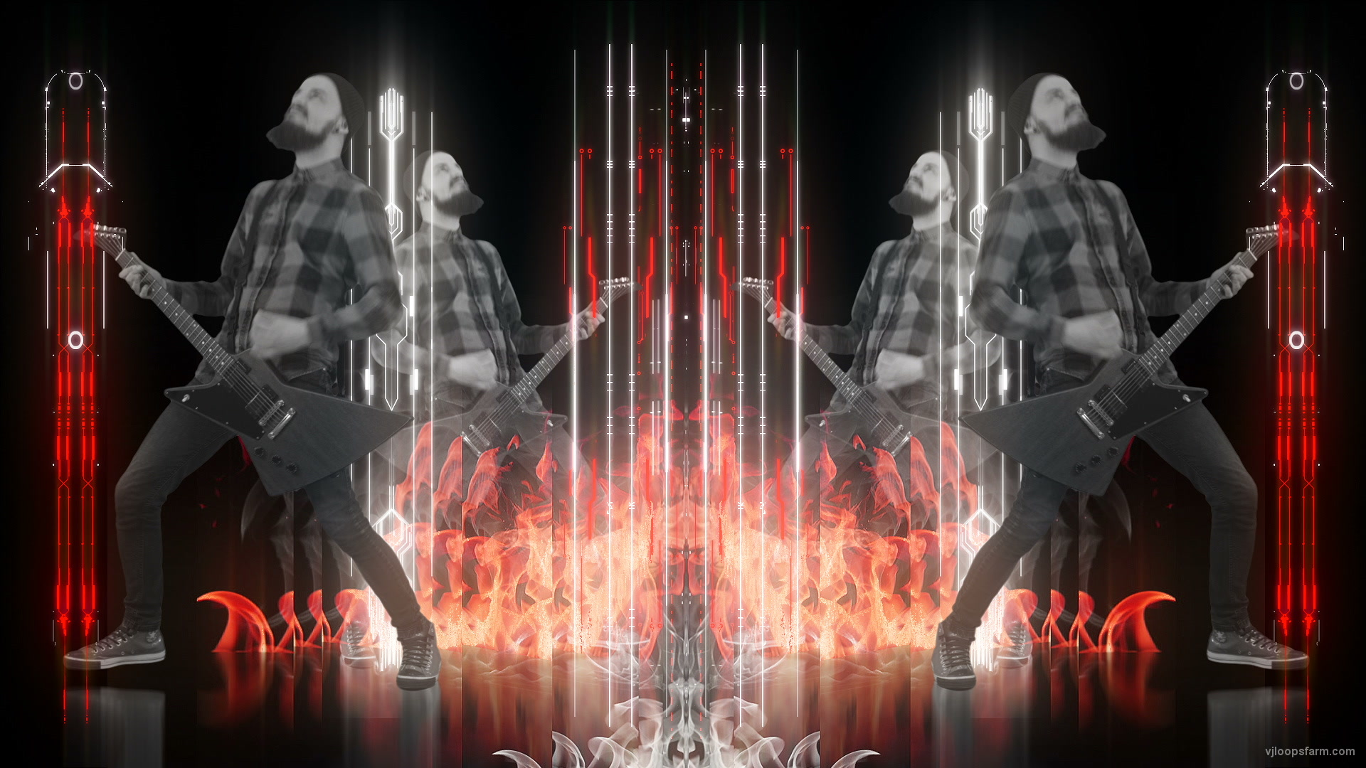 vj video background Rock-Fireman-Techno-Flame-Visuals-Video-Art-VJ-Loop_003