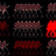 Rock-Guitarist-Team-playing-Video-Art-VJ-Loop VJ Loops Farm
