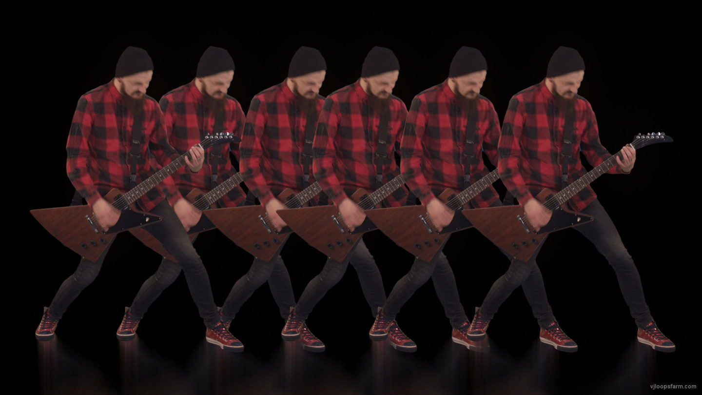 vj video background Rock-Guitarist-Team-playing-Video-Art-VJ-Loop_003