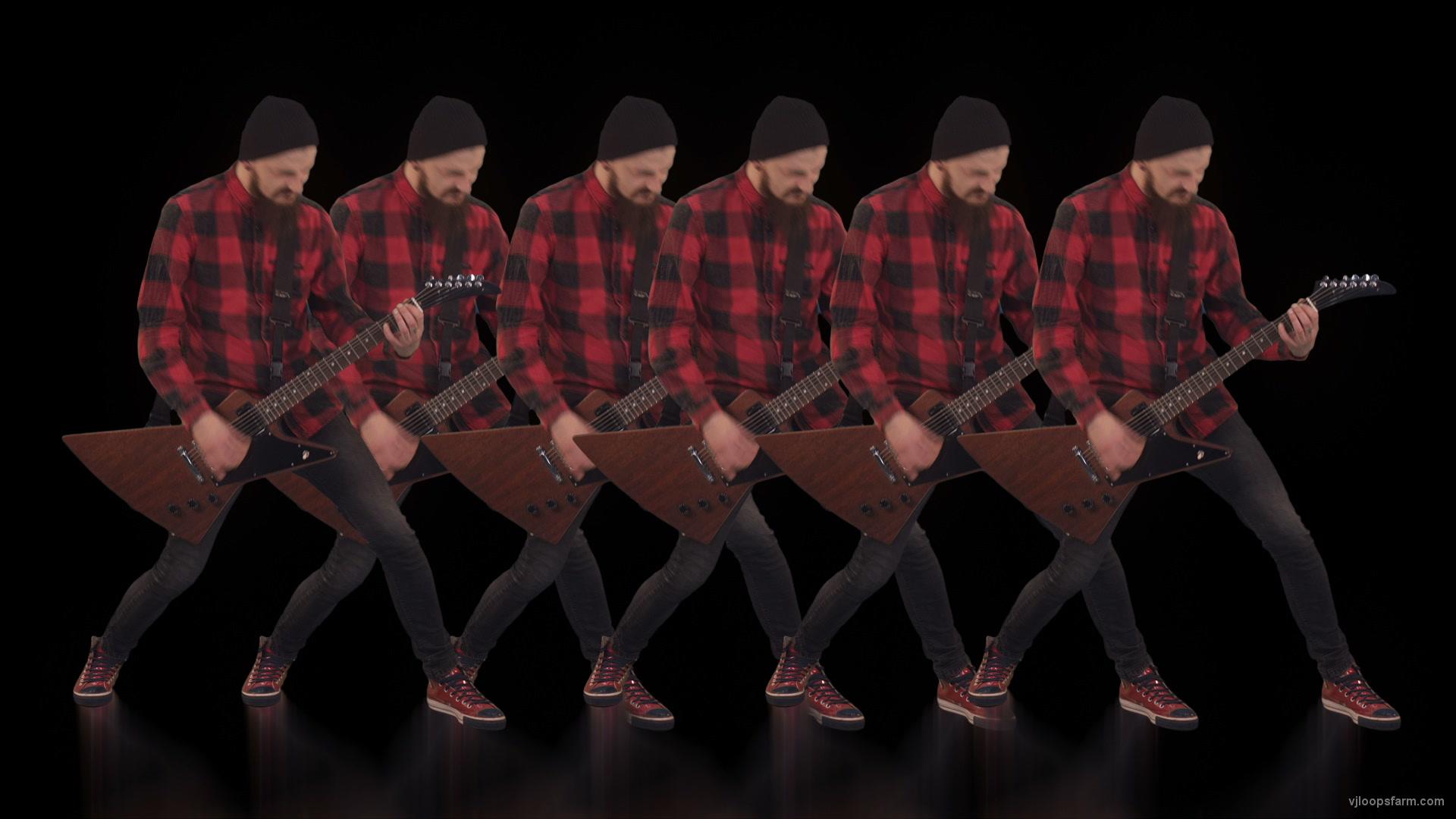 vj video background Rock-Guitarist-Team-playing-Video-Art-VJ-Loop_003