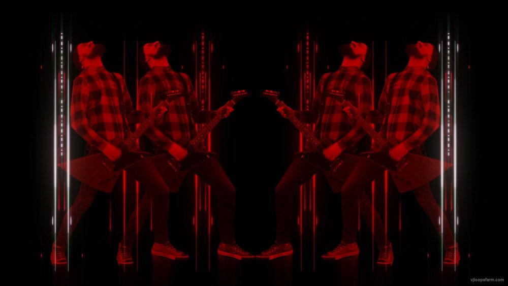 vj video background Rock-Red-Guitarist-Column-Techno-strobing-video-art-VJ-Loop_003
