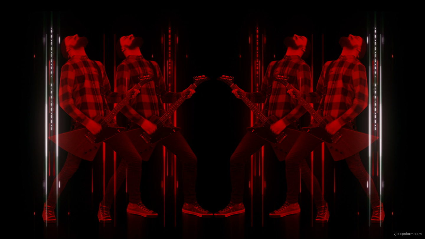 vj video background Rock-Red-Guitarist-Column-Techno-strobing-video-art-VJ-Loop_003