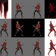 Rock-Red-Guitarist-strobing-video-art-VJ-Loop VJ Loops Farm