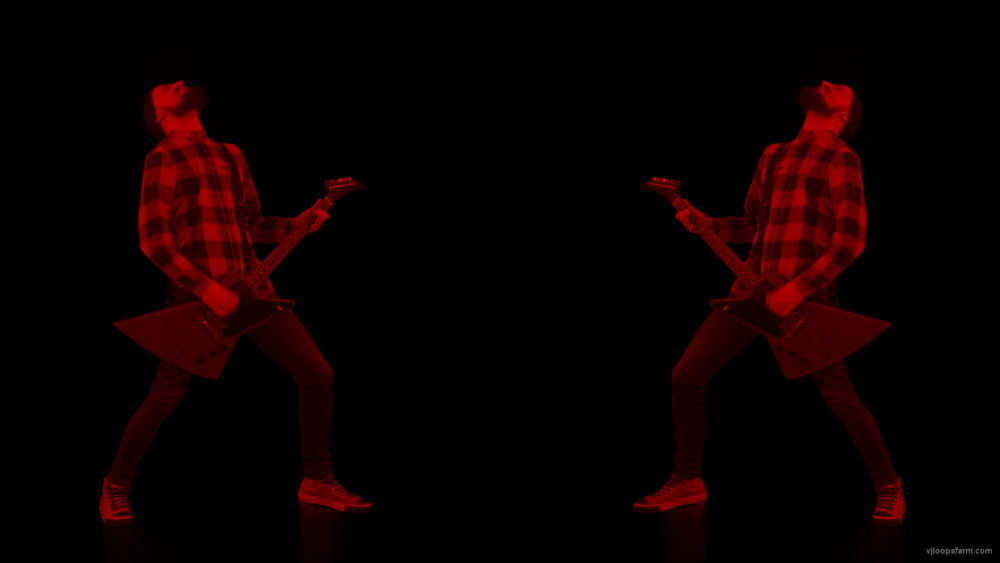 vj video background Rock-Red-Guitarist-strobing-video-art-VJ-Loop_003