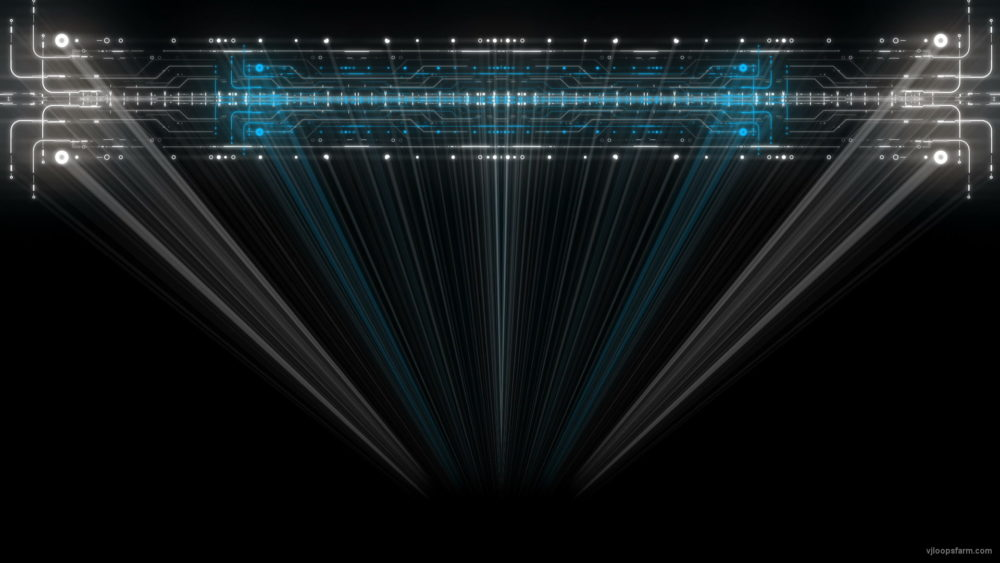 vj video background Scan-Line-Rendering-Blue-Robot-Visual-Art-VJ-Loop_003