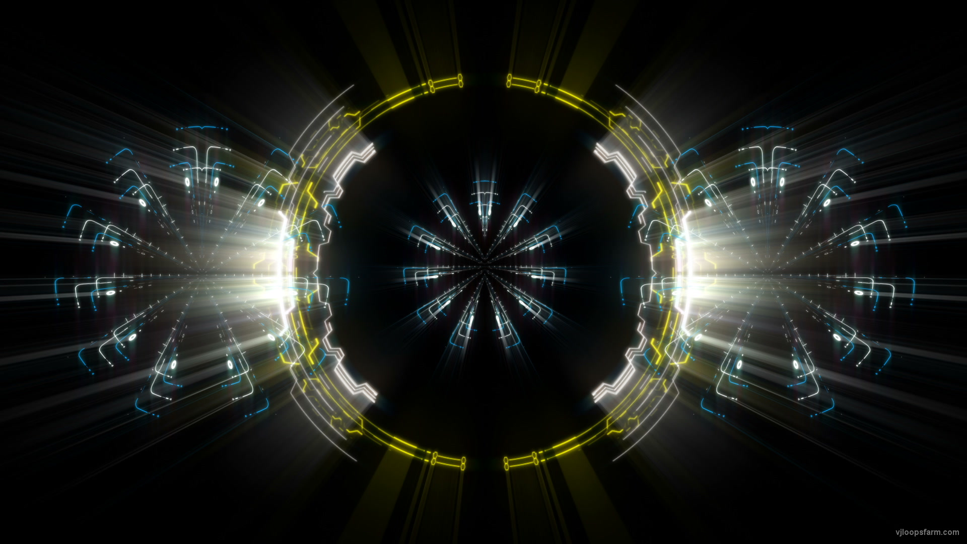 vj video background Sun-Portal-AI-Gate-Eyes-Visual-Art-VJ-Loop_003