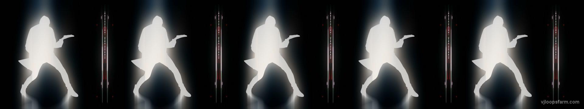 vj video background Ultra-wide-tripple-head-Rock-Man-Guitarist-strobing-visuals-Video-ARt-VJ-Footage_003