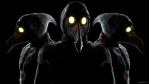 vj video background Beat-Heads-of-Venetian-Plague-Doctor-Halloween-VJ-Video-Loop_003