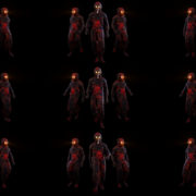 Glowing-Light-Eyes-Army-of-Halloween-walking-plague-doctor-in-Ultra-HD-Video-Art-VJ-Loop VJ Loops Farm