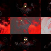 Head-attack-by-Plague-Venetian-Doctor-Red-Acid-Halloween-Video-UHD-VJ-Loop VJ Loops Farm
