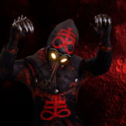 vj video background Head-attack-by-Plague-Venetian-Doctor-Red-Acid-Halloween-Video-UHD-VJ-Loop_003