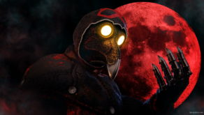 vj video background Idle-scarry-fingers-by-moon-Plague-Doctor-Video-Wallpaper-Postcard-VJ-Loop_003