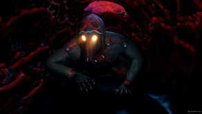 vj video background Slow-spider-crawl-horror-plague-doctor-in-mask-video-art-Ultra-HD-VJ-Loop_003