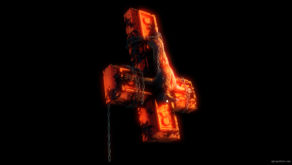 vj video background Plague-Doctor-on-Cross-symbol-on-fire-burn-with-alpha-channel-Ultra-HD-VJ-Loop_003