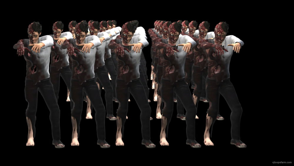 vj video background Zombie-Army-is-goint-to-You-Run-VJ-Loop_003