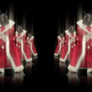 Horse-head-santa-displays-his-boxing-fighting-skills-isolated-on-black-background-holographic-video-art-VJ-Loop_002 VJ Loops Farm