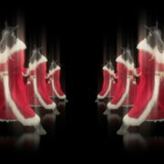 Horse-head-santa-displays-his-boxing-fighting-skills-isolated-on-black-background-holographic-video-art-VJ-Loop_007 VJ Loops Farm