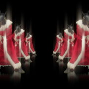 Horse-head-santa-displays-his-boxing-fighting-skills-isolated-on-black-background-holographic-video-art-VJ-Loop_009 VJ Loops Farm