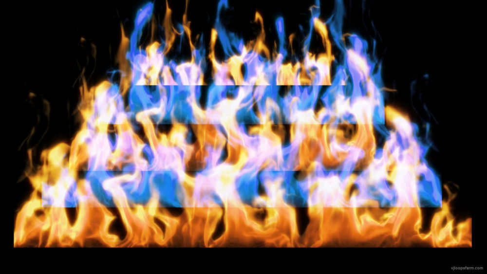 vj video background Fire-Pyramid-Blue-Yellow-Flame-Video-Art-VJ-Loop_003