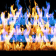 Fire-Pyramid-Blue-Yellow-Flame-Video-Art-VJ-Loop_007 VJ Loops Farm