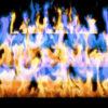 Fire-Pyramid-Blue-Yellow-Flame-Video-Art-VJ-Loop_009 VJ Loops Farm