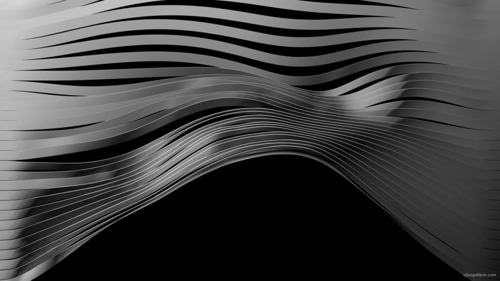 vj video background 3D-Displace-Motion-Stripe-ribbons-isolated-on-black-Video-mapping-Loop_003