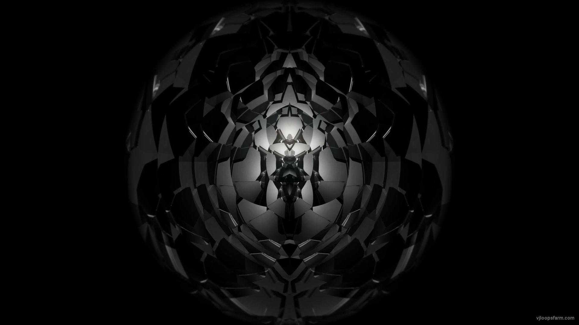 vj video background Black-Hole-Geometric-segments-3D-Fulldome-Video-Mapping-Loop_003