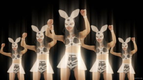 vj video background Bunny-Girls-Team-Power-Fist-Beat-Kombat-4K-Video-Art-VJ-Loop_003