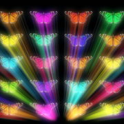 Colorful-Rays-glow-Butterflies-insects-pattern-4K-Video-Art-VJ-Loop_002 VJ Loops Farm