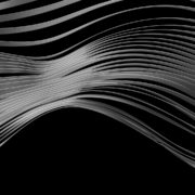 vj video background Dry-surface-with-white-3D-animation-ribbons-Video-Mapping-Loop_003