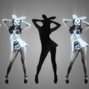 vj video background Five-Noir-Black-Playboy-Go-Go-Dancing-Rabbit-Girls-Video-Art-4K-VJ-Loop_003