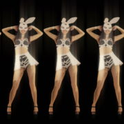 Five-Playboy-Penta-Rabbit-Go-Go-Girls-Dancing-Video-Art-4K-VJ-Loop_007 VJ Loops Farm