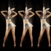 Five-Playboy-Penta-Rabbit-Go-Go-Girls-Dancing-Video-Art-4K-VJ-Loop_008 VJ Loops Farm