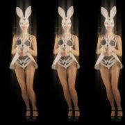 Five-jumping-Girls-in-Bunny-Mask-isolated-on-Black-background-4K-Video-Art-VJ-Loop_005 VJ Loops Farm