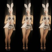 Five-jumping-Girls-in-Bunny-Mask-isolated-on-Black-background-4K-Video-Art-VJ-Loop_007 VJ Loops Farm