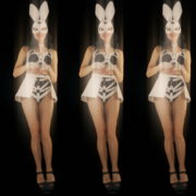 Five-jumping-Girls-in-Bunny-Mask-isolated-on-Black-background-4K-Video-Art-VJ-Loop_008 VJ Loops Farm