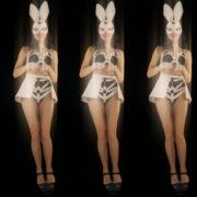 Five-jumping-Girls-in-Bunny-Mask-isolated-on-Black-background-4K-Video-Art-VJ-Loop_008 VJ Loops Farm