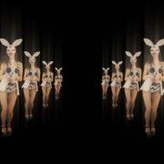 Happy-Jumping-tunnel-girls-in-rabbit-bunny-mask-4K-Video-Art-VJ-Loop_002 VJ Loops Farm