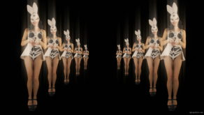 vj video background Happy-Jumping-tunnel-girls-in-rabbit-bunny-mask-4K-Video-Art-VJ-Loop_003