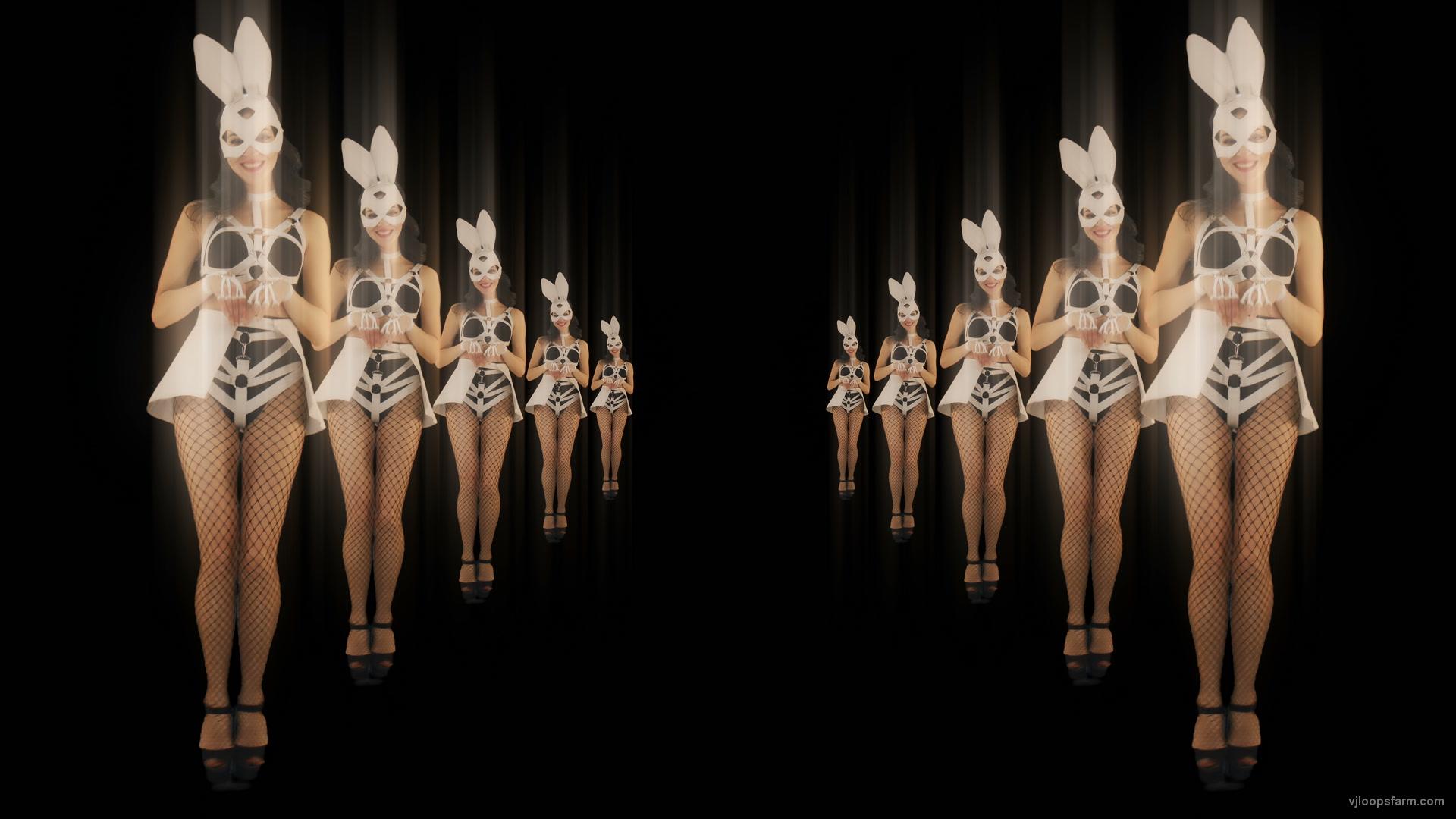 vj video background Happy-Jumping-tunnel-girls-in-rabbit-bunny-mask-4K-Video-Art-VJ-Loop_003