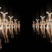 Happy-Jumping-tunnel-girls-in-rabbit-bunny-mask-4K-Video-Art-VJ-Loop_004 VJ Loops Farm