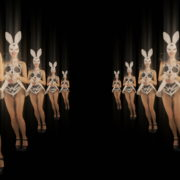 Happy-Jumping-tunnel-girls-in-rabbit-bunny-mask-4K-Video-Art-VJ-Loop_005 VJ Loops Farm