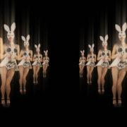 Happy-Jumping-tunnel-girls-in-rabbit-bunny-mask-4K-Video-Art-VJ-Loop_007 VJ Loops Farm