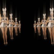 Happy-Jumping-tunnel-girls-in-rabbit-bunny-mask-4K-Video-Art-VJ-Loop_008 VJ Loops Farm