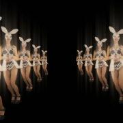 Happy-Jumping-tunnel-girls-in-rabbit-bunny-mask-4K-Video-Art-VJ-Loop_009 VJ Loops Farm