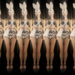 vj video background Jumping-Rabbit-Playboy-Girl-Parad-4K-Video-Art-VJ-Loop_003