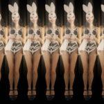 vj video background Jumping-Rabbit-Playboy-Girl-Parad-4K-Video-Art-VJ-Loop_003